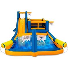 Kids Pirate Inflatable Water Park and Bounce House Summer Outdoor Fun Slide Outdoor Toys For Kids, Outdoor Fun, Water Slides Backyard, Inflatable Water Park, Inflatable Bouncers, Kid Pool, Pool Fun, Bouncy House, Cool Pools