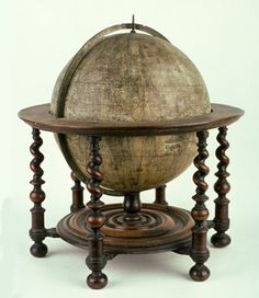 Terrestrial globe by Morden, Berry and Lea in turned wooden stand