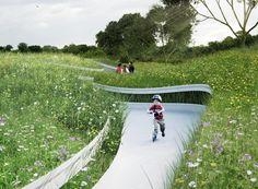 Penda Designs River-Inspired Landscape Pavilion for China's Garden Expo,© penda architecture & design