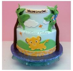 The lion king baby shower cake