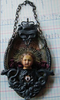 Castle Salvage Relic porcelain doll head shrine by inthewillows
