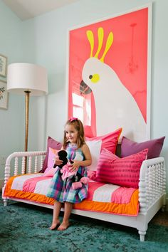 An oversized art print is a great way to add that 'wow' factor to your child's bedroom.  Shop Hello Cocky! by Catherine Culvenor for Minted