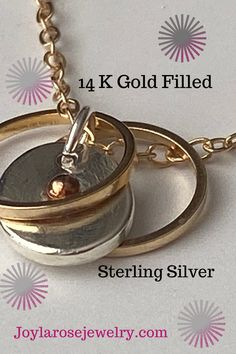 Silver Pendant Necklace, Gold Pendant, Silver Necklaces, Mixed Metal Jewelry, Chain Links, Silver Rings Handmade, Rings For Her, Circle Necklace, Minimalist Jewelry