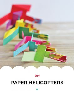 Airplane Party Themes : Airplane Party Ideas : DIY Paper Helicopters : The Party Cupboard Edit