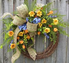 Coronas de flores silvestres coronas de primavera primavera