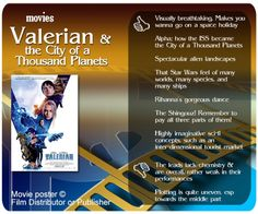Movie review - Valerian & the City of a Thousand Planets.