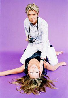 Kate Moss & David Bowie by Ellen Von-Unwerth