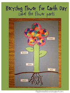 Love this flower craft for kindergarten+