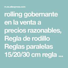 Appearancees Regla paralela de 30 cm con dise/ño de Rodillo Regla Multiusos