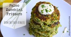 Paleo Zucchini Fritters - TRIED it. Good, but next time I'll have to squeeze more water out. the lemon mayo was great.