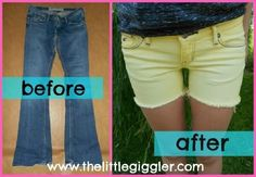 Wow time to have some fun with old jeans, #diy summerize old jeans and bleach them yourself!