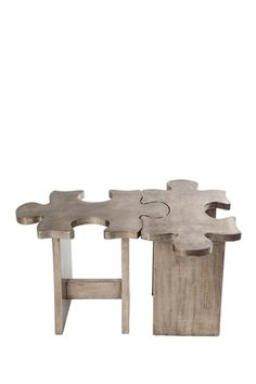 Journey  Puzzle Silver Stool