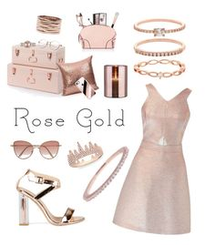 """""""Rose Gold Obsession"""" by mayacblls on Polyvore featuring Anne Sisteron, Accessorize, Miss Selfridge, Casetify, Argento Vivo, Repossi, Rolex, Charlotte Tilbury, Morphe and Cutler and Gross"""
