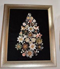 Seashell-Jewelry-Framed-Christmas-Tree-Stunning