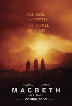 Macbeth (2015) ✭✭✭✭ Stark, bloody and intense rendering of the Scottish Play. Visually stunning and another commanding performance from Michael Fassbinder, who does darkly complicated better than just about anybody.
