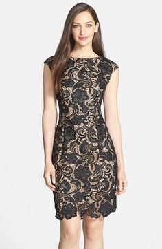Alex Evenings Cap Sleeve Lace Dress available at #Nordstrom