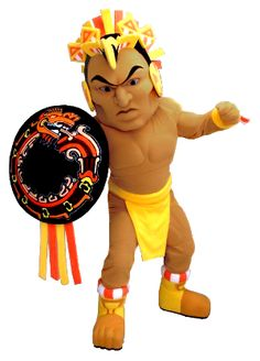 Meet the Aztec Warrior mascot for Corona Del Sol High School.