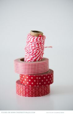 totally cute gift wrapping ideas with Washi Tape from the Pretty Blog