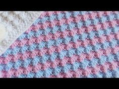 How to Crochet a Mixed Grit Stitch Variation or Half Shell Ripple Stitch - YouTube