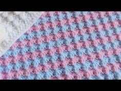 Beautiful Reversible Squares Pattern 4 Scarf/Blanket/Dishcloth/Washcloth  (4 Righties) - YouTube