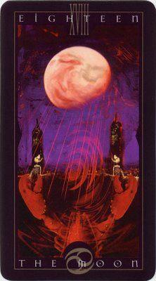 Lunar Earth Mama: The Vertigo Tarot, Dave McKean. The Moon.