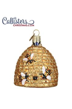 Is bee keeping allowed in your town? Gift this Old World Christmas Bee Skep to your favorite apiarist. Apiculture is popular in many communities as local honey can offer health benefits. Old World Christmas Ornaments, Family Ornament, Great Christmas Gifts, Christmas Bulbs, Christmas Decorations, Christmas Music, Christmas Wishes, Merry Christmas, Ornament Hooks