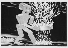 Weird editorial illustration by Boris Artzybasheff