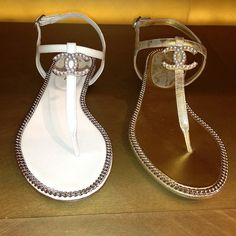 I <3 these CHANEL Summer Flats in Silver & Gold but I'd still rather have JESUS!  #asp71413