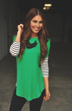 Dottie Couture Boutique - Green Tunic, $36.00 (http://www.dottiecouture.com/green-tunic/)