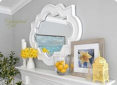 Spring Summer Mantle Decoration (use a different pop of color)  TRB
