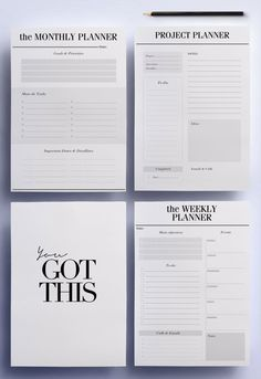 Im so happy to present my ultimate productivity planner pack; the perfect minimal pages for the To Do and Work section of your planner that