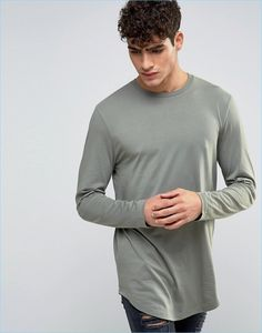 ASOS Super Longline Long-Sleeve T-Shirt