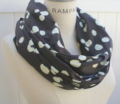 Polka Dots Infinity Scarf Women Scarf FREE Shipping Olive Green Brown Polkadots Scarf Neckwarmer Autumn Fashion-. $18.99, via Etsy.