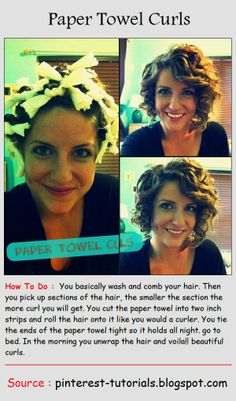 Paper Towel Curls..... Wonder if this really actually works...?!