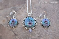 Handmade Floral Polymer Clay Jewelry Set with by WizArtCreations
