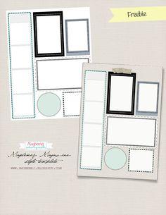 free template- blogtemplate, digital layout template.