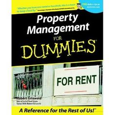 Property Management For Dummies (For Dummies (Computer/Tech)); $5.95   nmartist/amazon