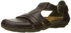 El Naturalista Women's Torcal Flat Sandal >>> See this great image : Closed toe sandals Closed Toe Sandals, Flat Sandals, Natural Shapes, Natural Rubber, Comfy Shoes, Natural Leather, T Strap, Clogs, Perfect Fit
