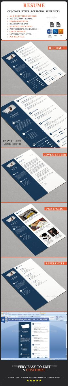 Resume Stationery, Resume cv and Cv design - easy resumes