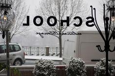 winter in School Restaurant, School, Winter, Home Decor, Winter Time, Decoration Home, Room Decor, Diner Restaurant, Restaurants