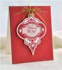 JustRite Stamps:  CR 03805 Noel Christmas Ornaments  Dies:  Spellbinders 2010 Heirloom Ornaments