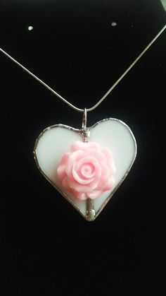 Check out this item in my Etsy shop https://www.etsy.com/listing/507018385/heart-white-stained-glass-with-pink