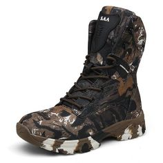 NEW Various Sizes! Mossimo Autumn Printed Velvet Green Camo Combat Boots