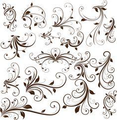 Swirl Floral Decorative Element Vector Graphic - Free Vector Site | Download Free Vector Art, Graphics