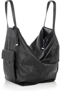 Oversized Leather Shoulder Bag from Jil Sander