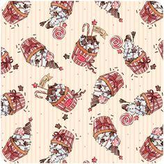christmas patterns by Natalia Tyulkina, via Behance