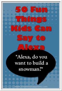 50 fun things kids can say to Alexa - the Amazon Echo Alexa Dot, Alexa Echo, Echo Echo, Funny Alexa Commands, Alexa Tricks, Amazon Echo Tips, Amazon Dot, Alexa Skills, Cool Kids