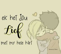 Love My Man, Love You, When Everything Goes Wrong, Emo Couples, Love Is Cartoon, Afrikaanse Quotes, Qoutes About Love, Cute Quotes, Birthday Wishes