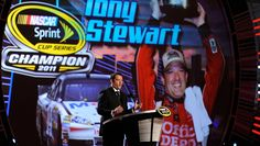 Tony Stewart career highlights Wednesday, July 6, 2016 In 2011, Stewart became a three-time Sprint Cup Series champion, beating Carl Edwards by a tie-breaker on wins.
