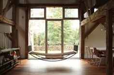 A Quiet Place: Hanging Hammocks Indoors   Apartment Therapy